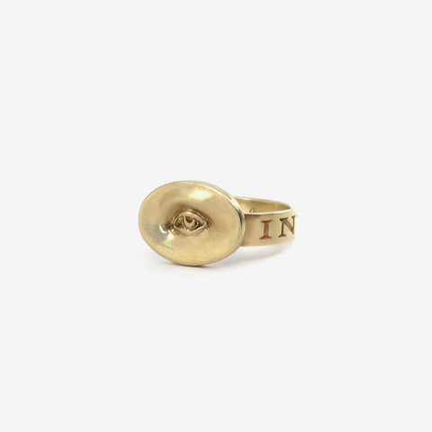 GABRIELLA KISS 10K LOVE TOKEN RING SMALL EYE – 'INVIGILARE' – TO WATCH OVER