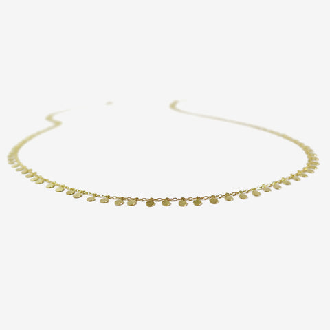 SIA TAYLOR 18K YELLOW GOLD EVENLY DOTTED NECKLACE