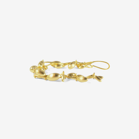 TED MUEHLING 18K GREEN GOLD PLATED OLIVE BRANCH BRACELET