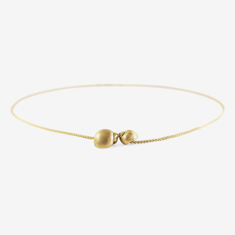 TED MUEHLING 14K TWO-SNAIL SHELL NECKLACE