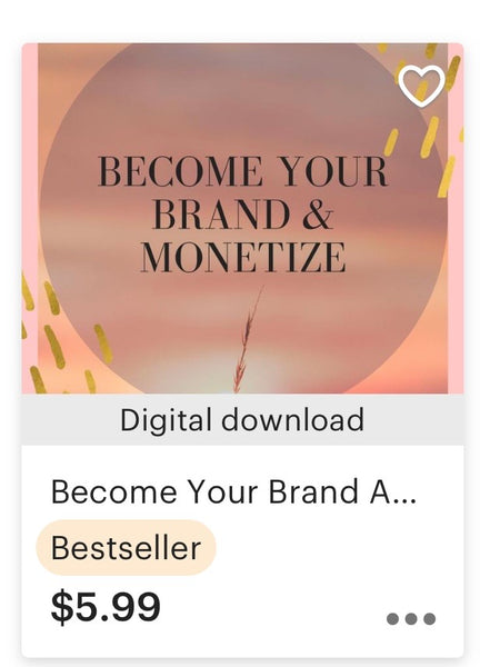 Become Your Brand and Monetize