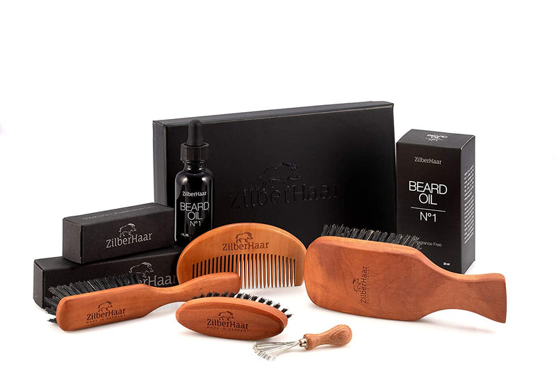 Zilberhaar Beard Brush Gift Set (Soft)