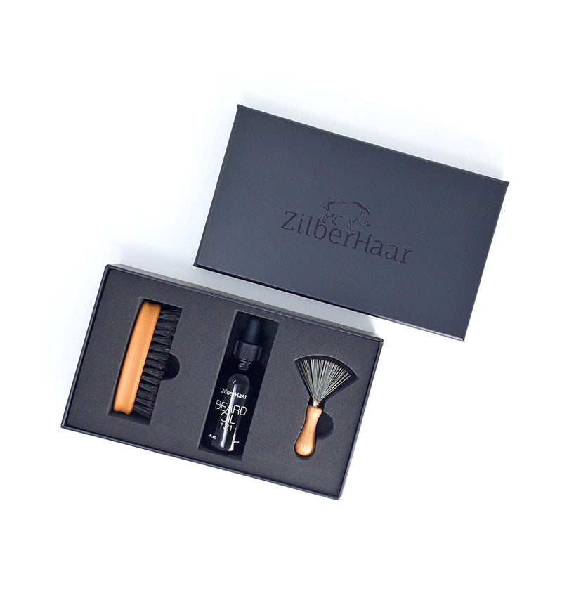 Zilberhaar Beard Oil & Brush Gift Set