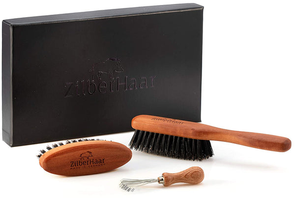 ZilberHaar Beard Brush Gift Set (Stiff)
