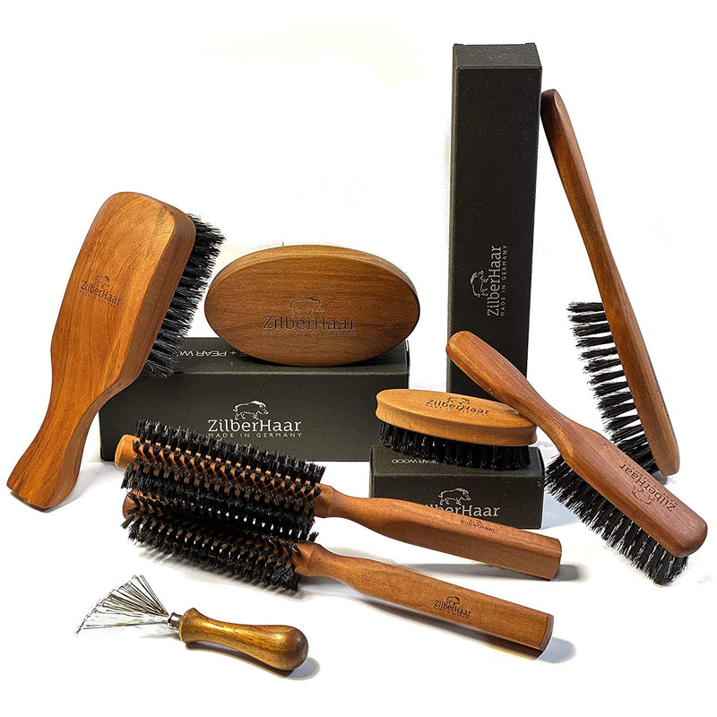 ZilberHaar Slanted Military Beard Brush (Stiff)