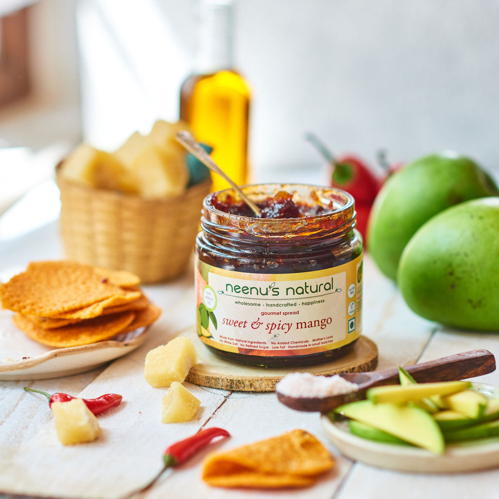 sweet and spicy mango spread