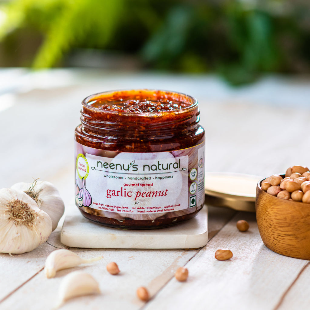 garlic and peanut spread
