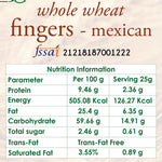wholewheat mexican fingers nutrition