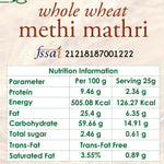 whole wheat methi mathri