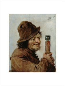A Peasant holding a Glass