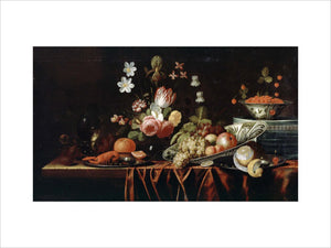 Still-life with Fruit, Flowers and Crayfish