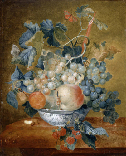 A Delft Bowl with Fruit