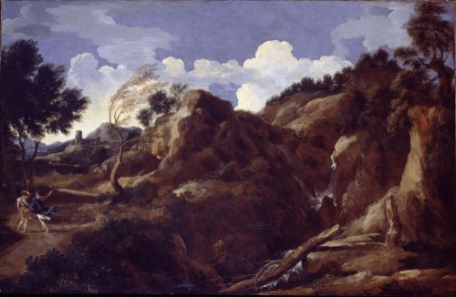 Mountainous Landscape with Approaching Storm