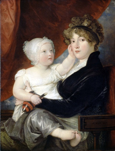 Mrs Benjamin West II with her son Benjamin West III