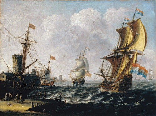 Dutch Levanters in a Rough Sea