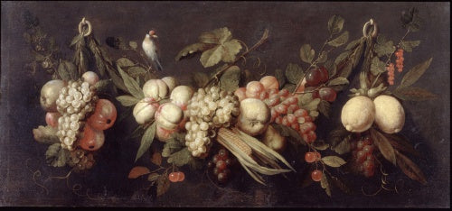 Still Life with Fruit and a Bird