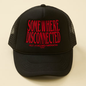SOMEWHERE DISCONNECTED TRUCKER HAT