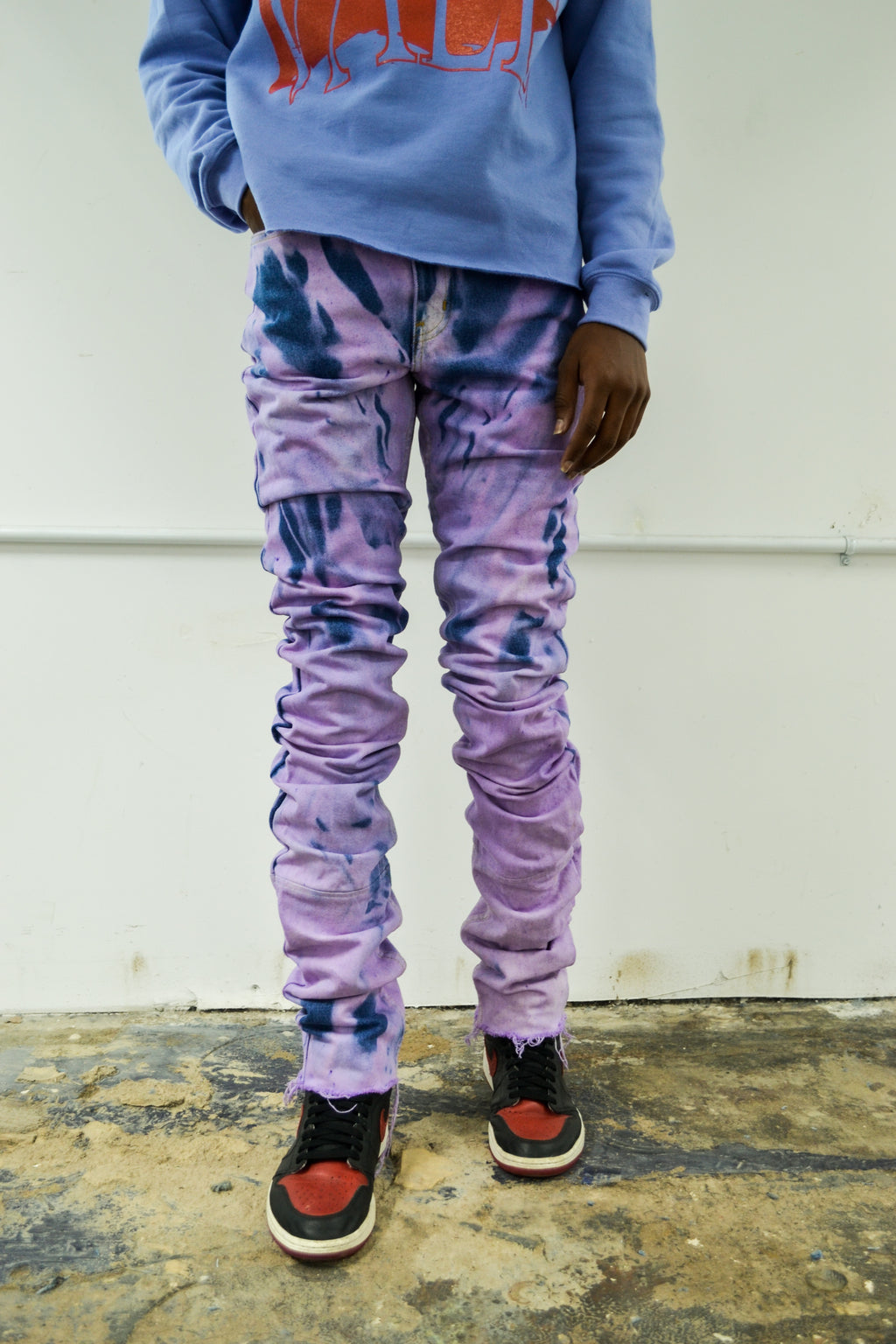 Purple Stack Denim