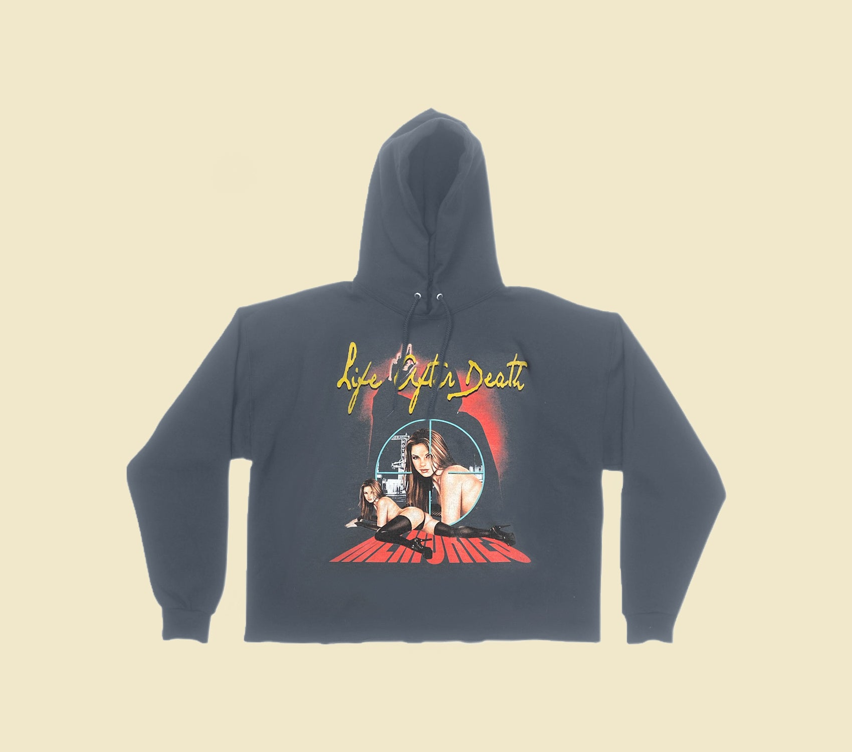 LIFE AFTER DEATH HOODIE IN CHARCOAL