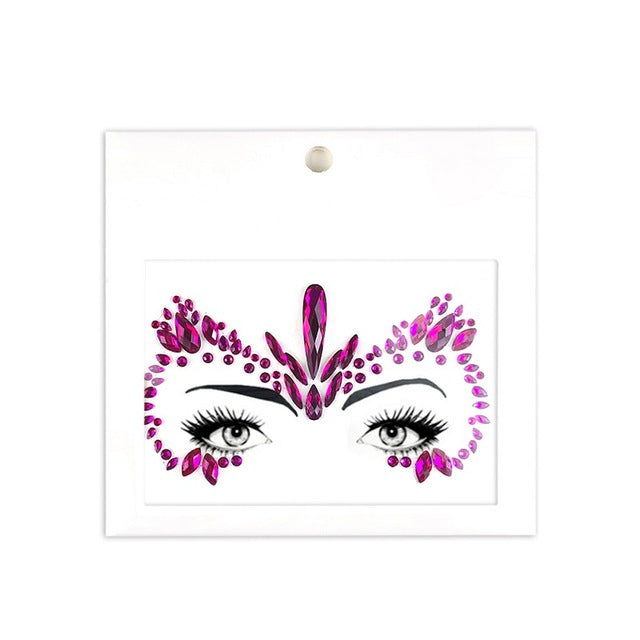 Masquerade Face Decoration DIY Jewelry Acrylic Rhinestone Festival Party Temporary Tattoo Fashion Face Stickers for Women - Beads-N-Things