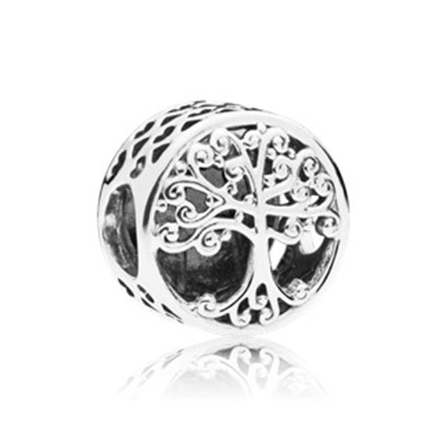 Vintage Punk Silver 925 Unicorn Lotus Mouse Love Zircon Charms Beads Fit Pandora Bracelets Necklaces for Women Making - Beads-N-Things