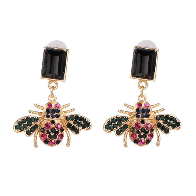 Arrival Bee Crystal Earrings