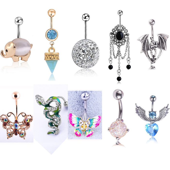 Nature Stone Belly Button Rings | Fashion jewelry |  Casual jewelry | Body Jewelry | Belly Button Rings