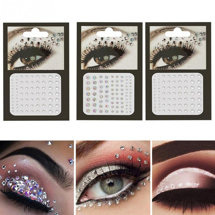 New Rhinestone Stickers Nail Art Decorations Body Face Jewelry Party Festival Crystal Eyes Temporary Tattoo Glitter Body Flash - Beads-N-Things