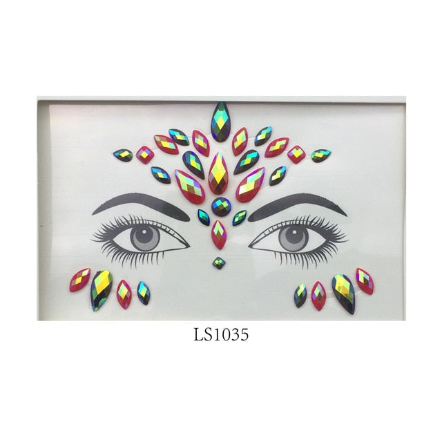 glaryyears Adhesive Jewelry Sticker Waterproof 3D Face Gems Crystal Makeup Sexy Product Hot Designs High Quality Woman Body Art - Beads-N-Things