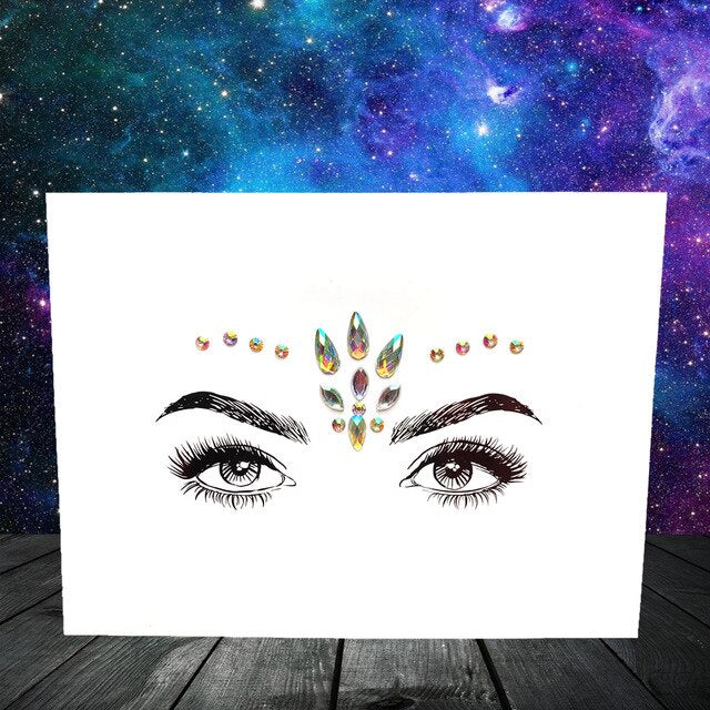 3D DIY Glitter Eye Sticker Diamond Face Jewelry Bohemia Eye Decoration Temporary Tatoo For Festival Stage Makeup Styling Tools - Beads-N-Things