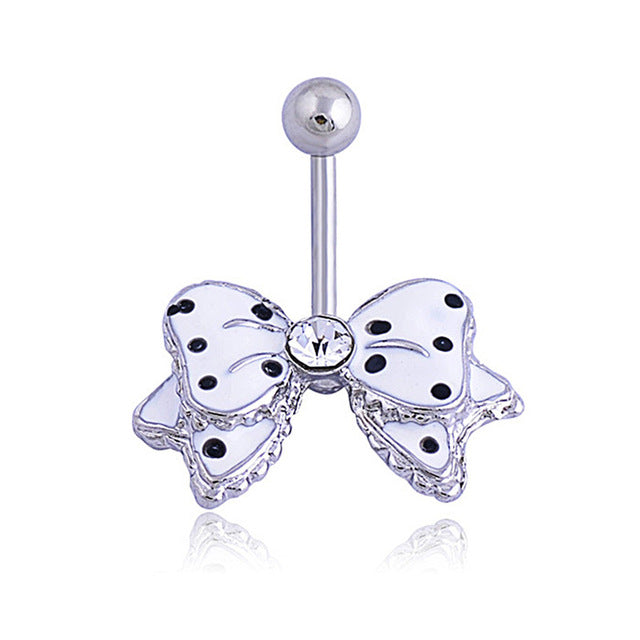 1PC Steel Crystal Dangle Surgical Steel Naval Ring Waterdrop Butterfly Belly Button Rings Sexy Belly Bar Body Piercing Jewelry - Beads-N-Things
