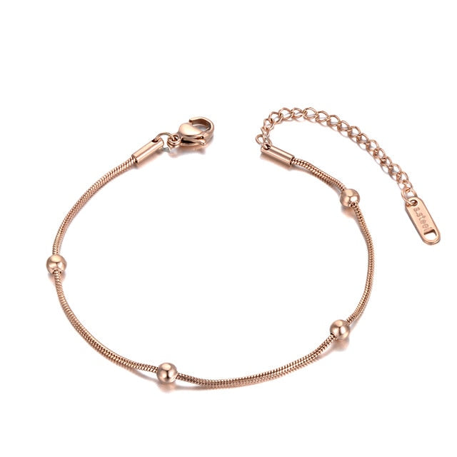Style Stainless Steel Chain Charm Anklets