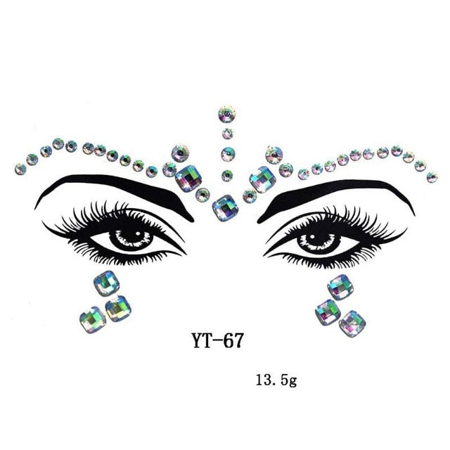 Festival Adhesive Crystal Face Gems