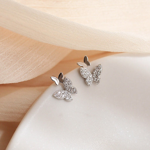 Dominated Crystal Butterfly Earrings