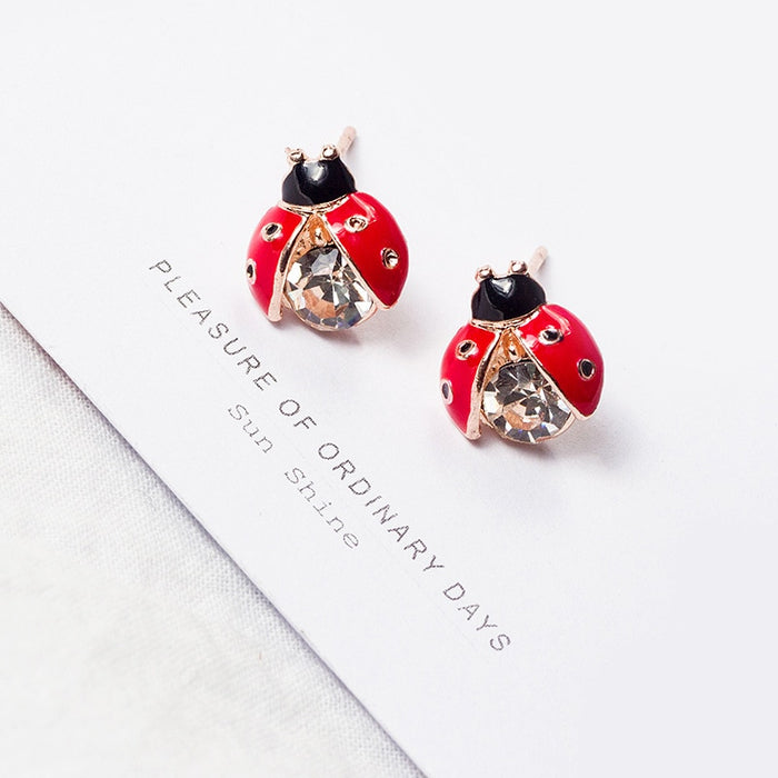 Cartoon Insect Crystal Earrings