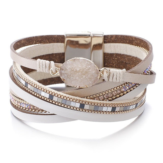 Multi-layer Wide Wrap Bracelet