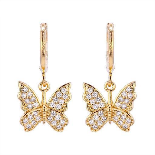 Trendy Geometric Butterfly Earrings