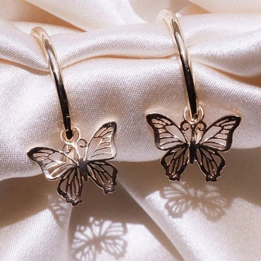Women Scrub Butterfly Earrings