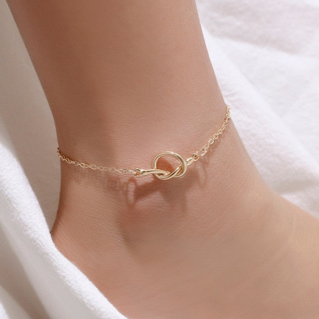 Summer Beach Gold Charm Anklets