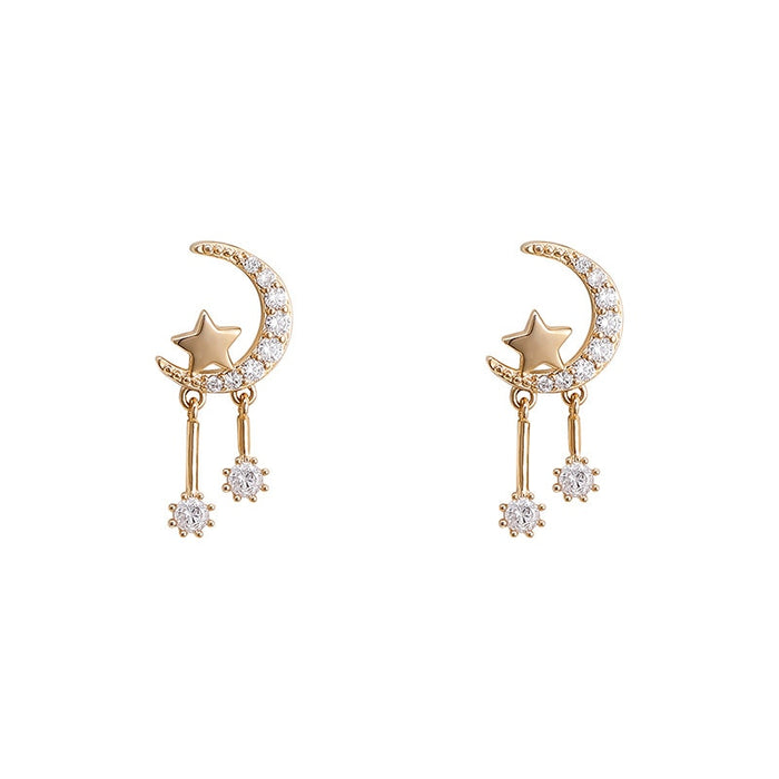 Star Moon Pendant Exquisite Party Earring
