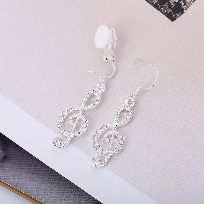 Long Asymmetric Notes Earrings
