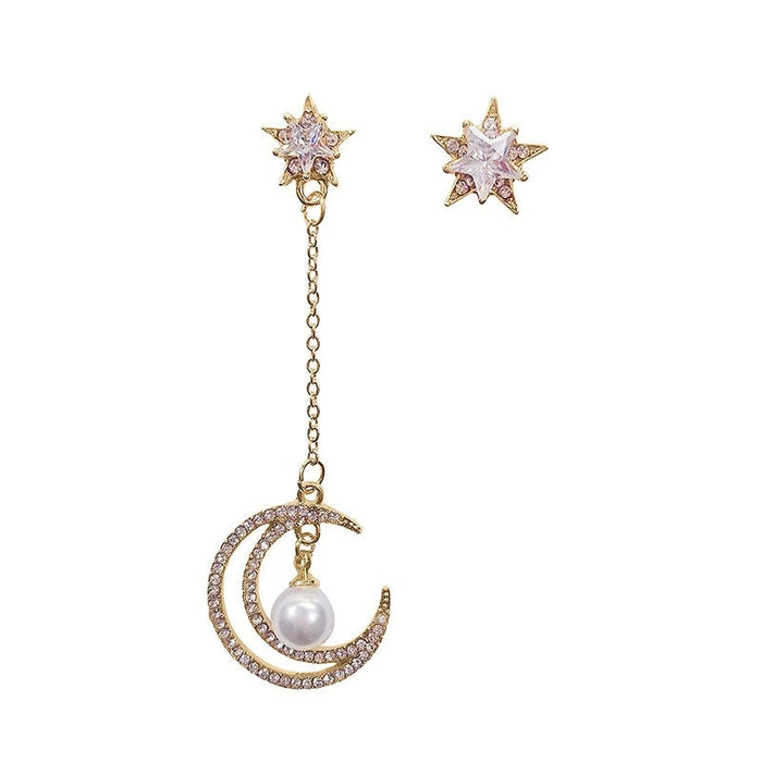 Crystal Vintage Star Dangle Earrings
