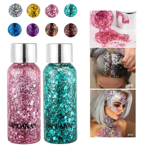 Party Face Makeup | Body Glitter Gel | Holographic Glitter | Eye shadow Gel | Face Jewelry|