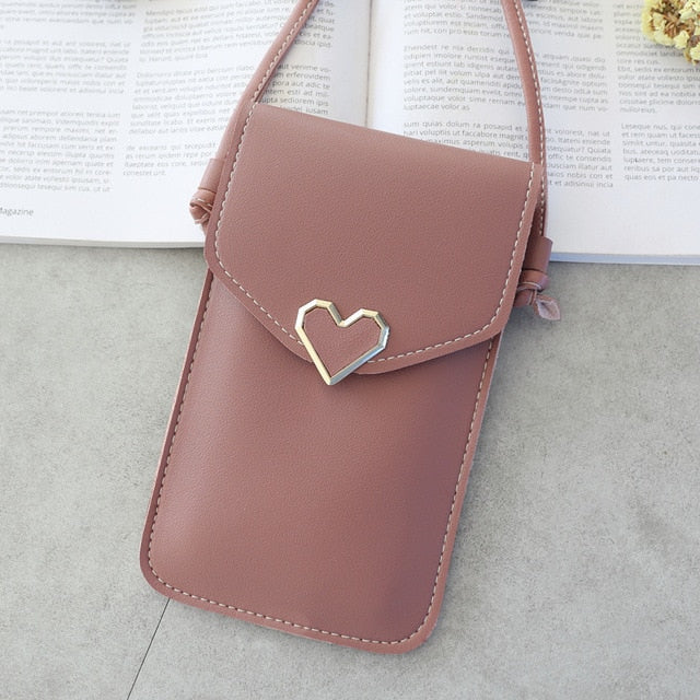 Heart Shaped Transparent Mobile Bag
