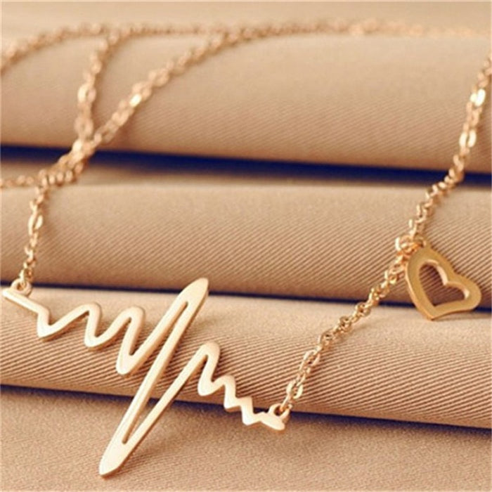 Heartbeat Pendant Necklaces