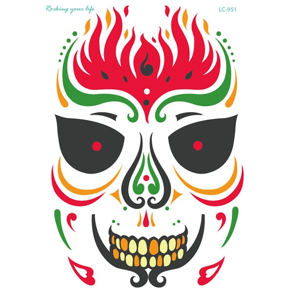 Sugar Skull Waterproof Tattoo
