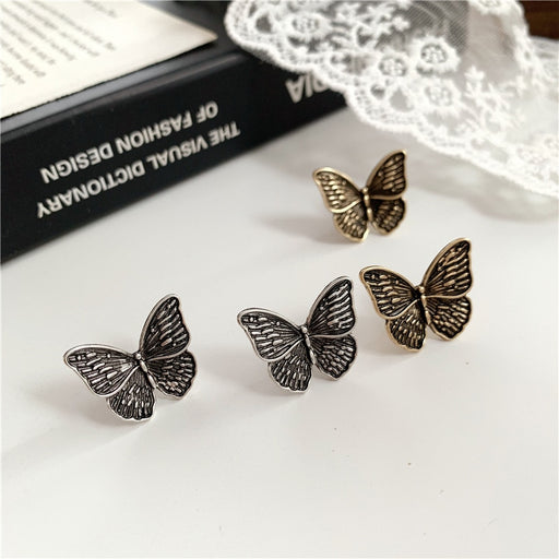 Gothic Punk Metal butterfly Earrings