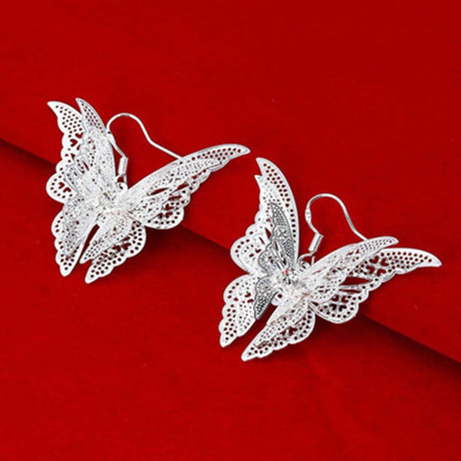 Sparkling Rhinestone Butterfly Earrings