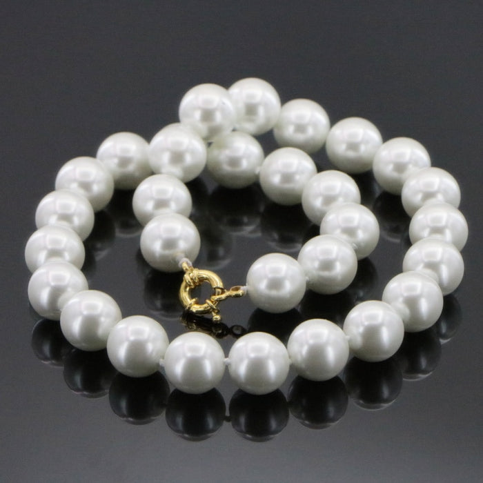 White Shell Pearl Necklace Beads