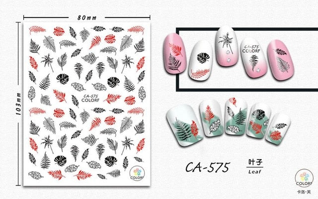 1 piece Ultra-thin Adhesive Nail Art Sticker INS Net Red Nail Art Sticker Decal